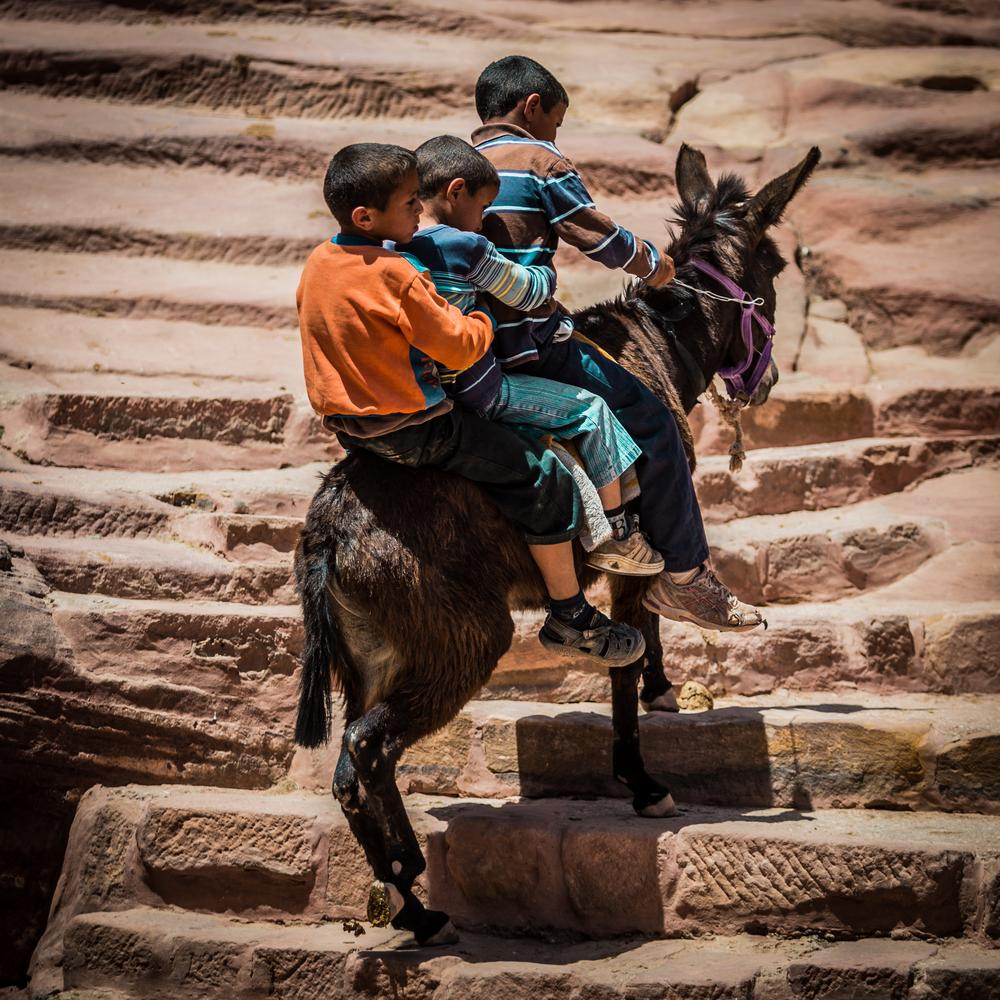 insolite moment in Petra, Jordan by Maxime Nourry