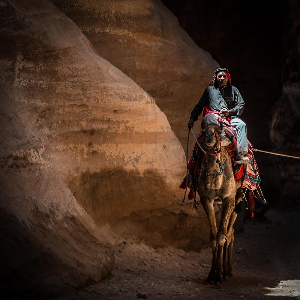 "beduin in Petra,""the desert rose"". Maxime Nourry by Maxime Nourry"