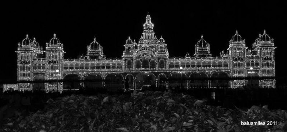 mysore palace at night ..2 by balasubrahmanaya.k.s
