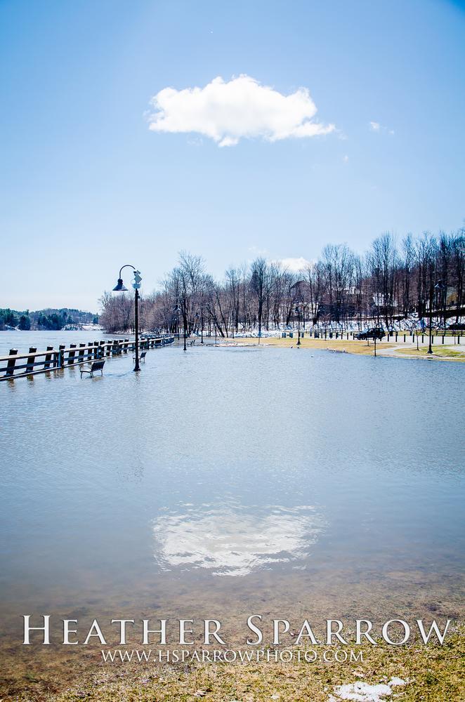 Photo in Landscape #cloud #flood #water #reflection