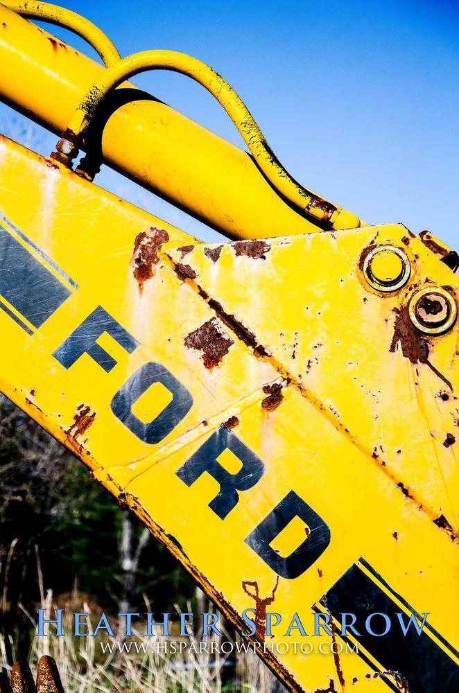 Photo in Random #yellow #blue #backhoe #ford