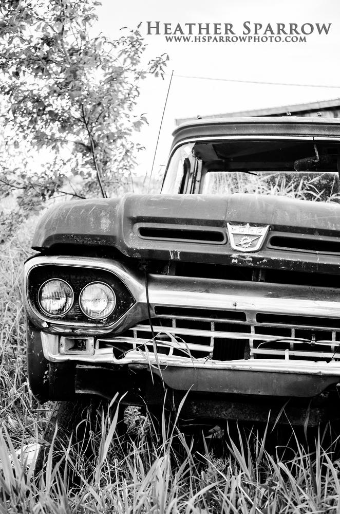 Photo in Vehicle #ford #old #truck #black & white