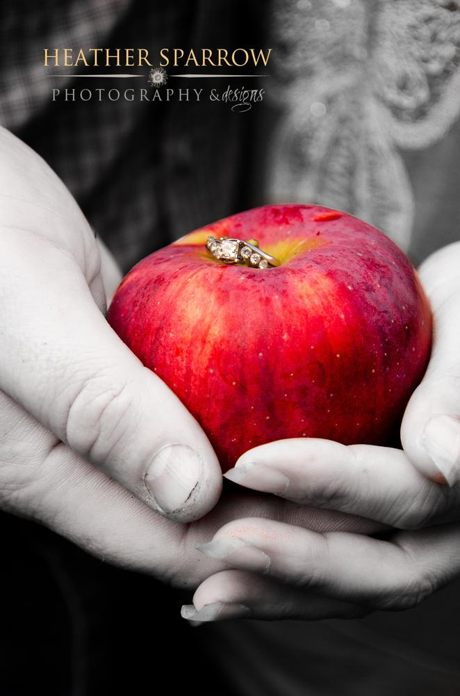 Photo in People #the ring #engagement #apple #red #love #diamonds