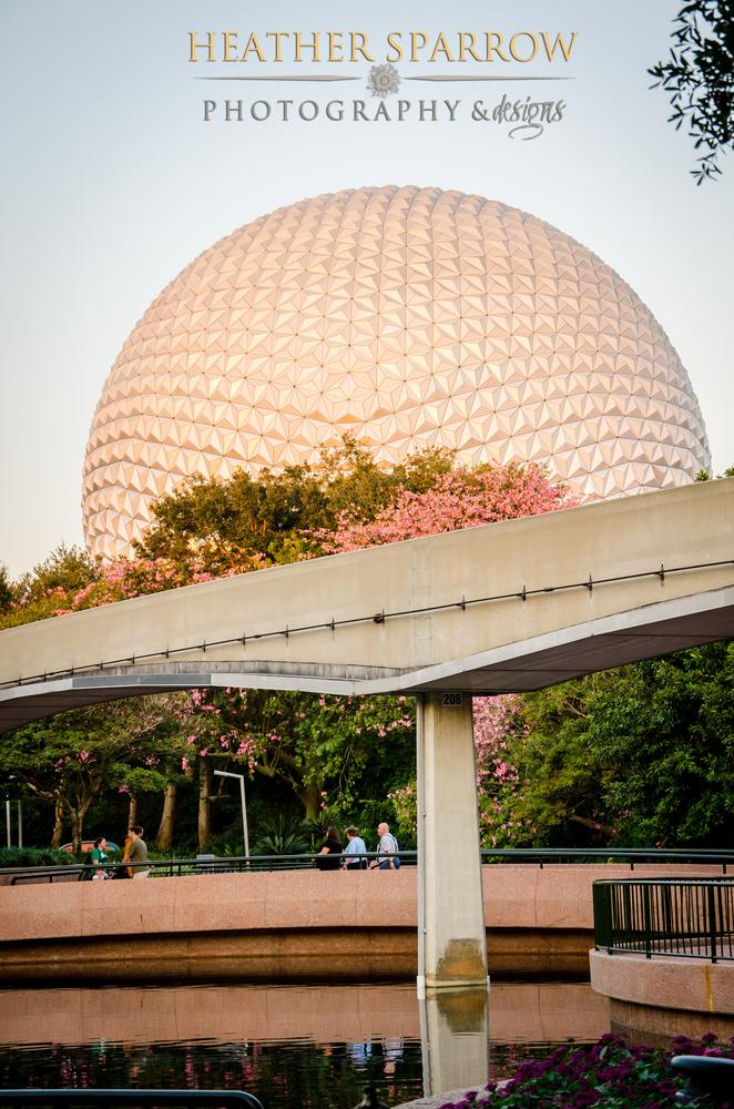 Sunset at Epcot by Heather Sparrow