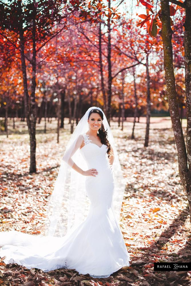 Photo in Wedding #bride #white dress #smile #casamento #wedding #posing #pose #red forest