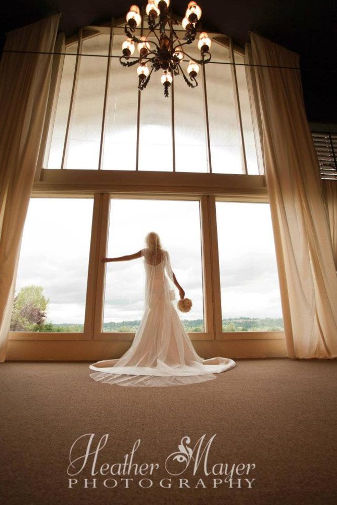 Window Bride by heathermayerphotography