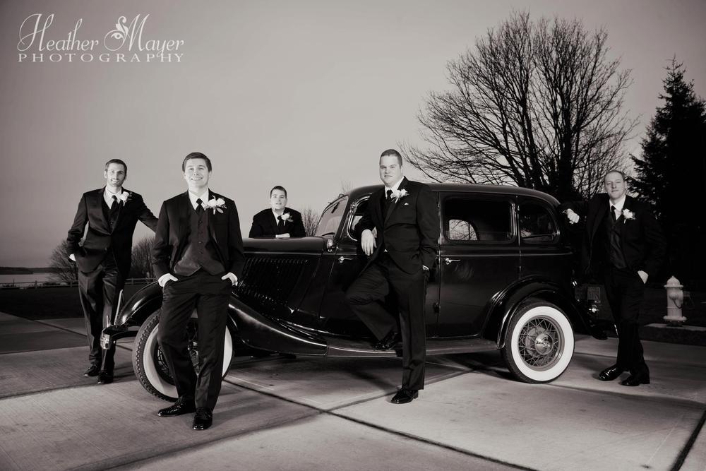 Groom & Guys by heathermayerphotography