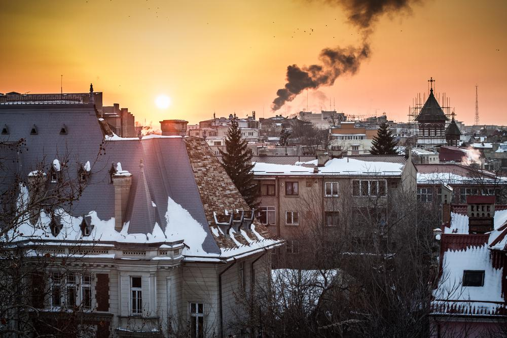 Sunset in Bucharest by Alexandru Rosieanu
