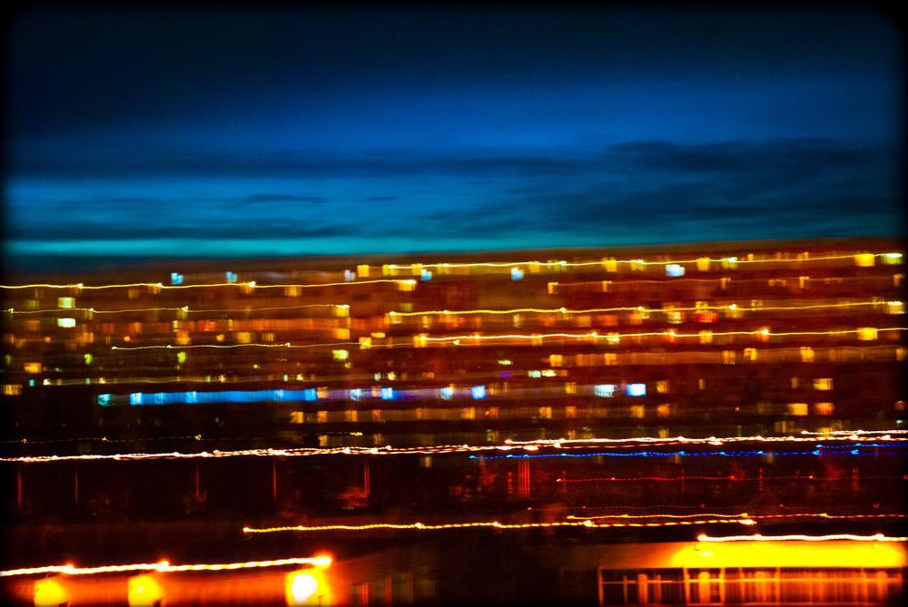 Bucharest in blurr by Gabriel Stanciu