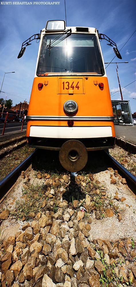 Photo in HDRI #tram #route #lights