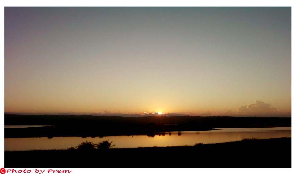 sunset of umrangso by premkumar