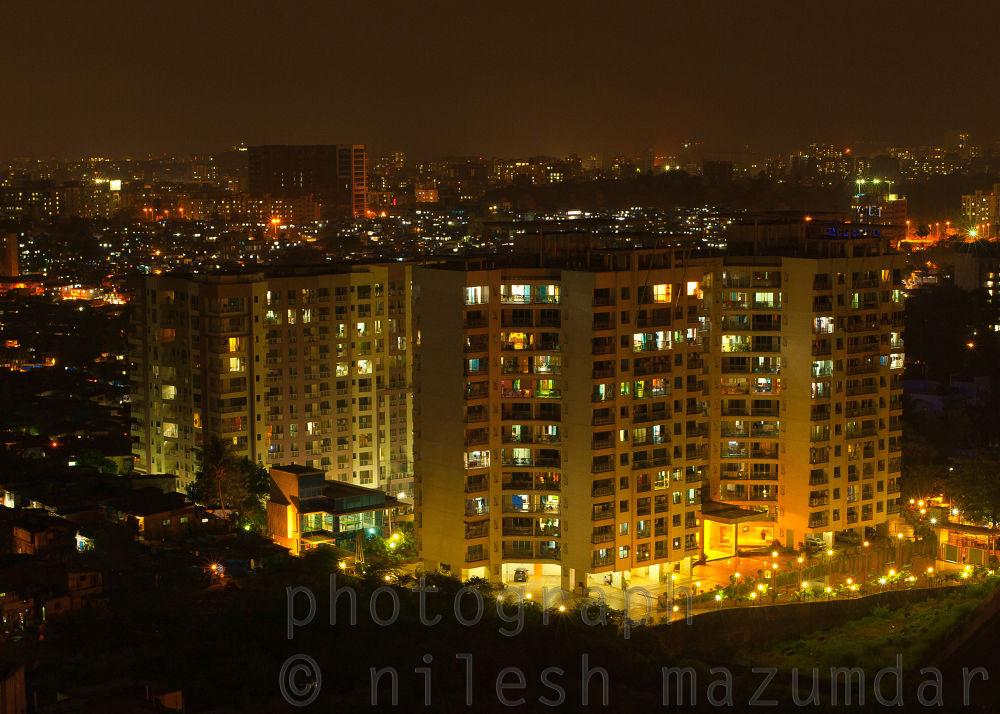 The night skyline 2 by nileshmazumdar