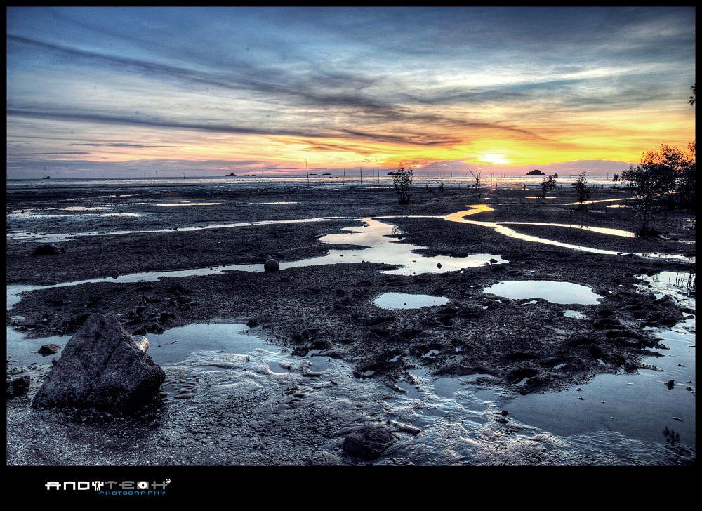 Sunset At Pantai Jeram by andyteoh73