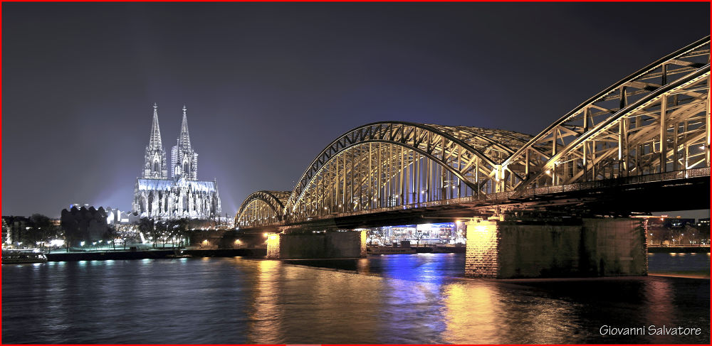 Bridge to Dom  (Cologne, Germany) by EuroAmerican
