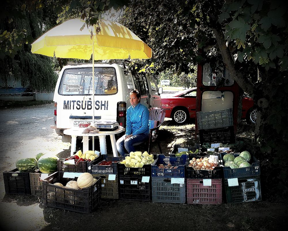 Venditrice-di-propri-prodotti-dell-orto by congius