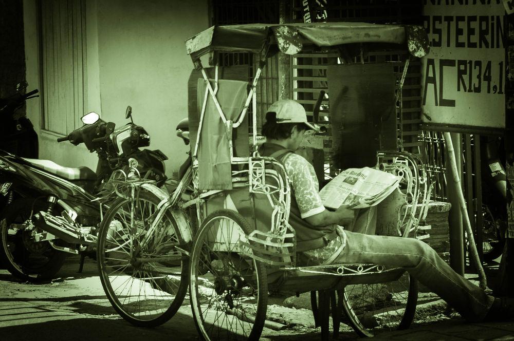 rickshaw in Bandung West Java by IwanZazuli
