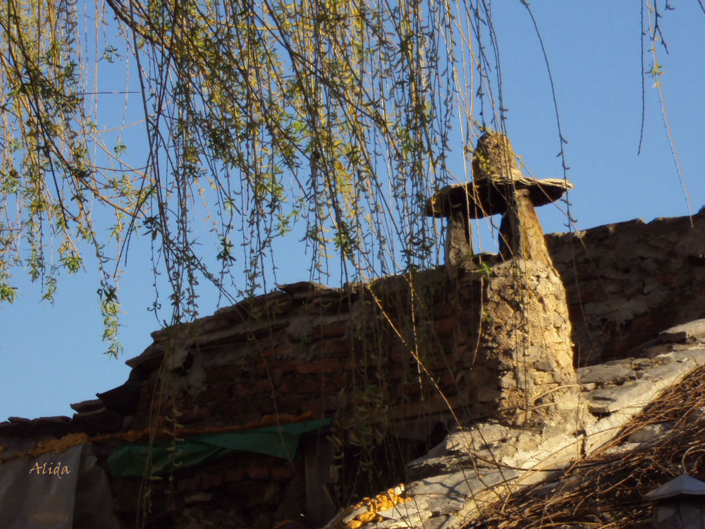 The chimney in the old town by alida