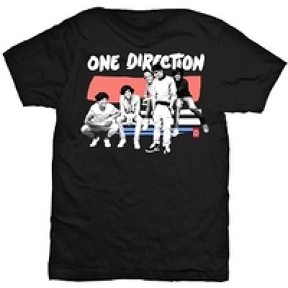 One-Direction-One-Direction-Paint-Strip-Black-T-Shirt by KaylinOfficial17