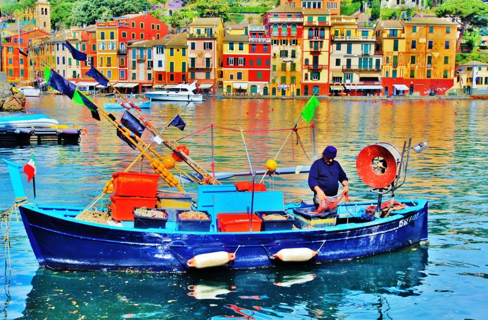 An Old Fisherman in Portofino (Italy) by yellowstar