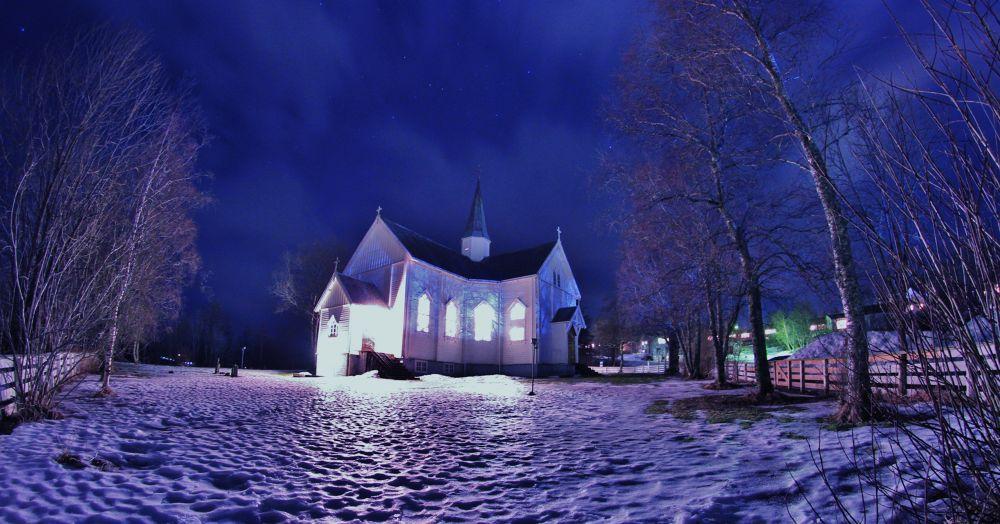 012...the church here at leland in leirfjord norway by vidar mathisen
