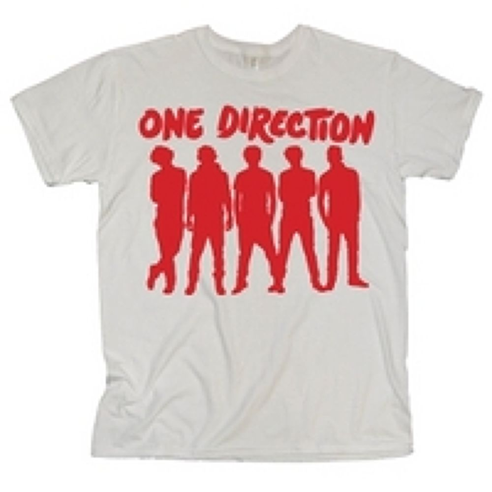 One-Direction-One-Direction-Silhouette-White-T-Shirt by KaylinOfficial17