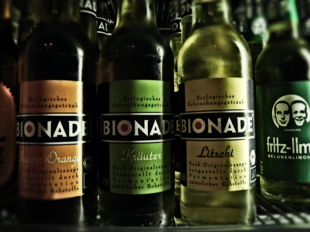 Bionade bottles . Cold by alirezarezvani