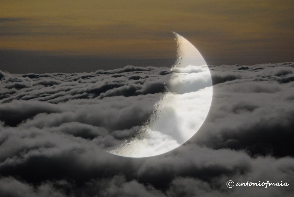 Moonlight above the clouds... MULTIFRAME WEB by Antonio F. Maia