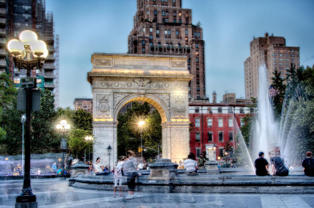 Photo in Random #park #hdr #nyc #ny #manhattan #washington square park #new york city