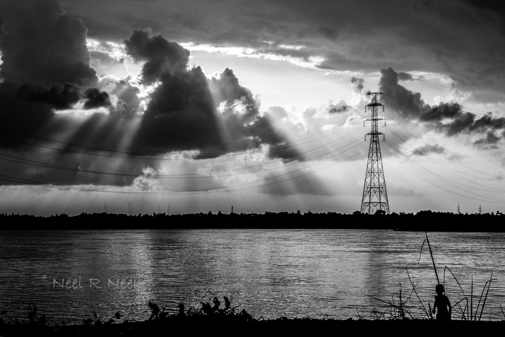 Holy Ganges river by sujay
