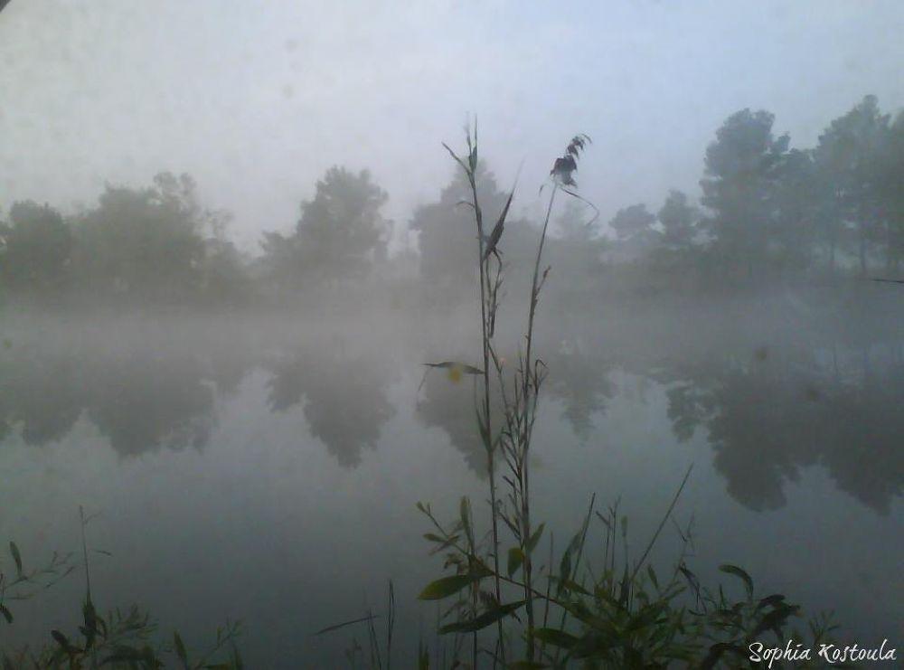 Misty Kaiafa's Lake (Zaharo,South-West Peloponisos,Greece by SophiaKostoula