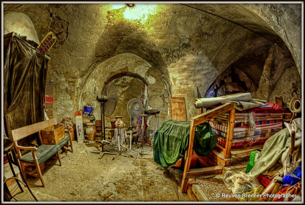 Ancient Synagogue - Old Jaffa by Reuven Brenner