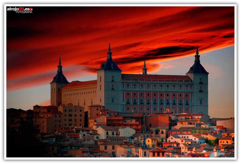 Photo in Random #españa #toledo #alrojo09 #alcazar #montaje