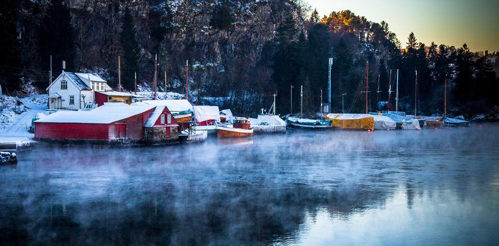 Cold winter morning by tovelisemossestad