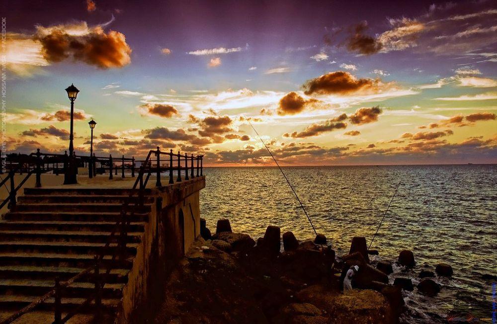 Sunset at maontazah,Alexandria,Egypt by EagleAyephotographyHossamNasr