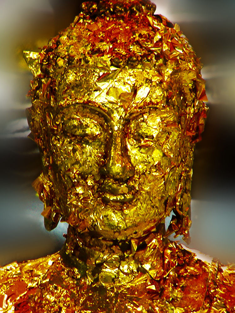 Photo in Travel #head #statue #gold #pray #budha #thai #wat