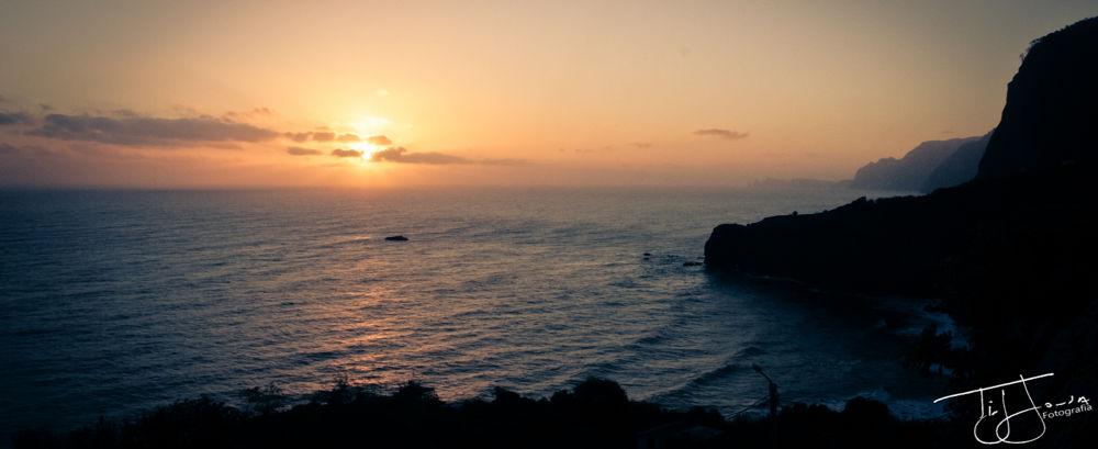 Photo in Random #sunrise sea mar portugal madei