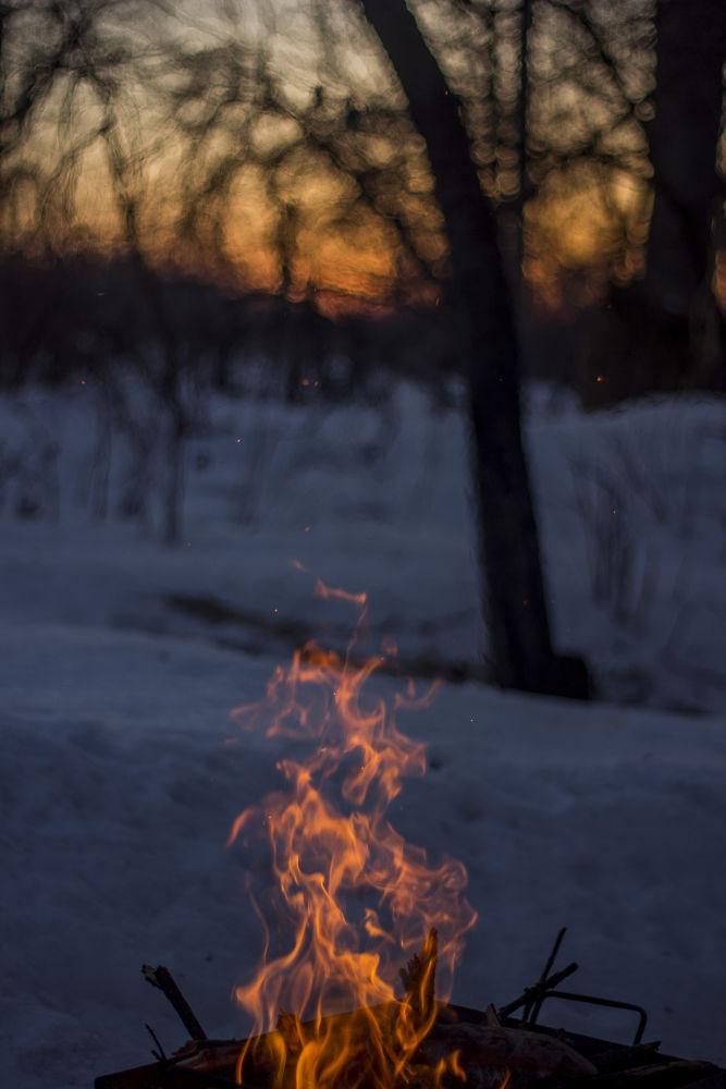 fire + end day by Oleksii Voronchikhin