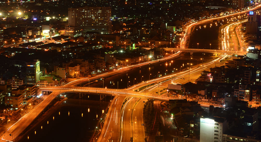 Night view of Saigon from the 49 floor by nicolaiepredescu