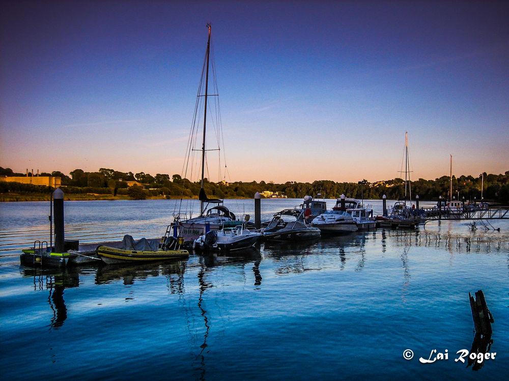 Sunset at Waterford Marina Hotel,Ireland  by RogerLai