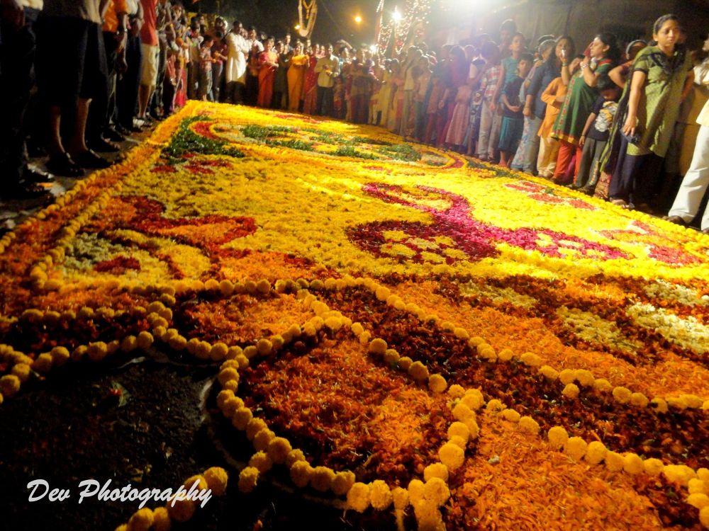 Colourful preparation for farewell of Ganesh Idol by DevRane