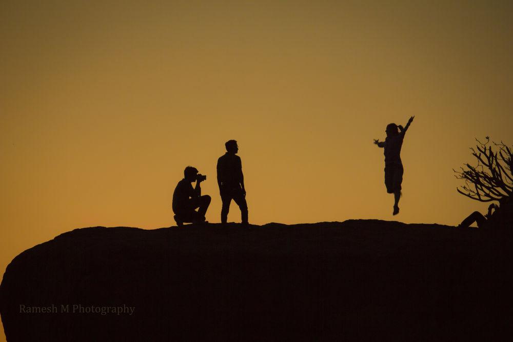Silhouette Shot at Hampi by Ramesh Muthaiyan