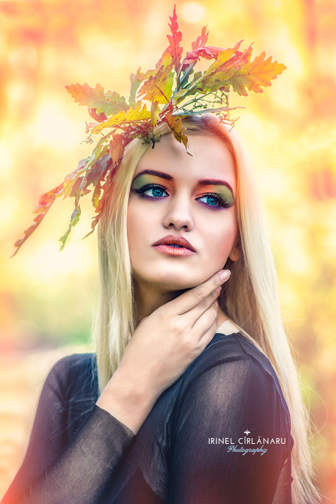 Photo in Random #girl #beauty #leaf #autumn #forest #make up