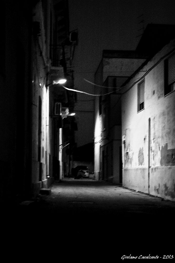 street at night by GiroPhoto - Girolamo Cavalcante