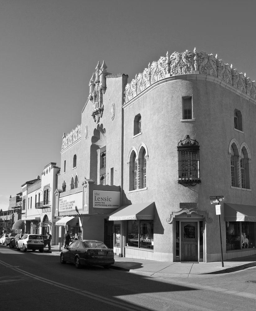 The Lensic in Santa Fe NM II B&W by Donald Durante Jr