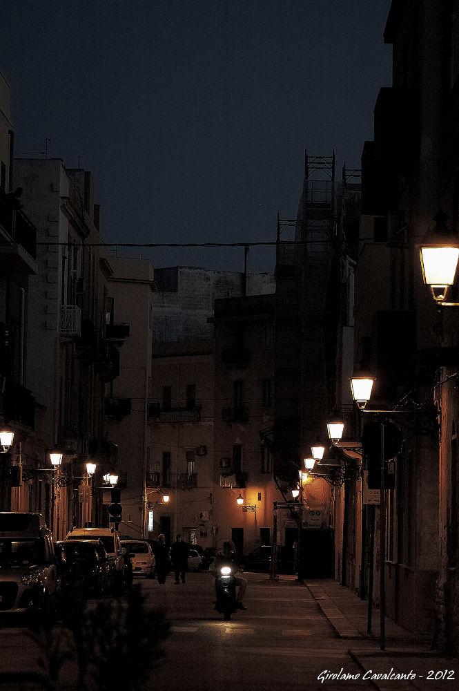 evening street by GiroPhoto - Girolamo Cavalcante