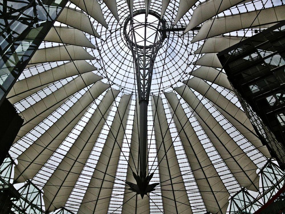 The Roof at the Sony Center Berlin by alirezarezvani