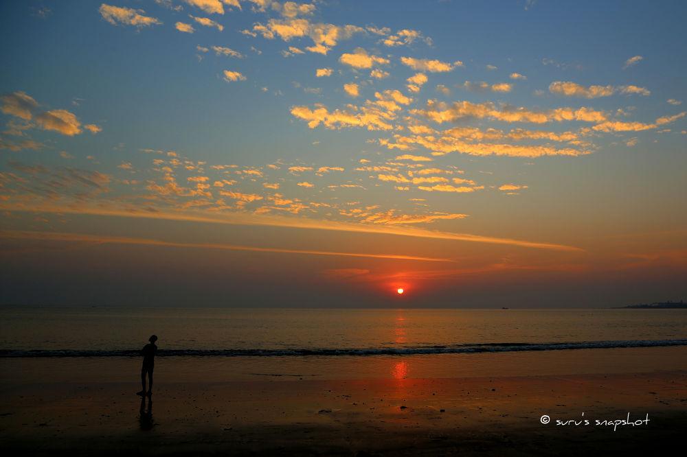 sunset by surunair