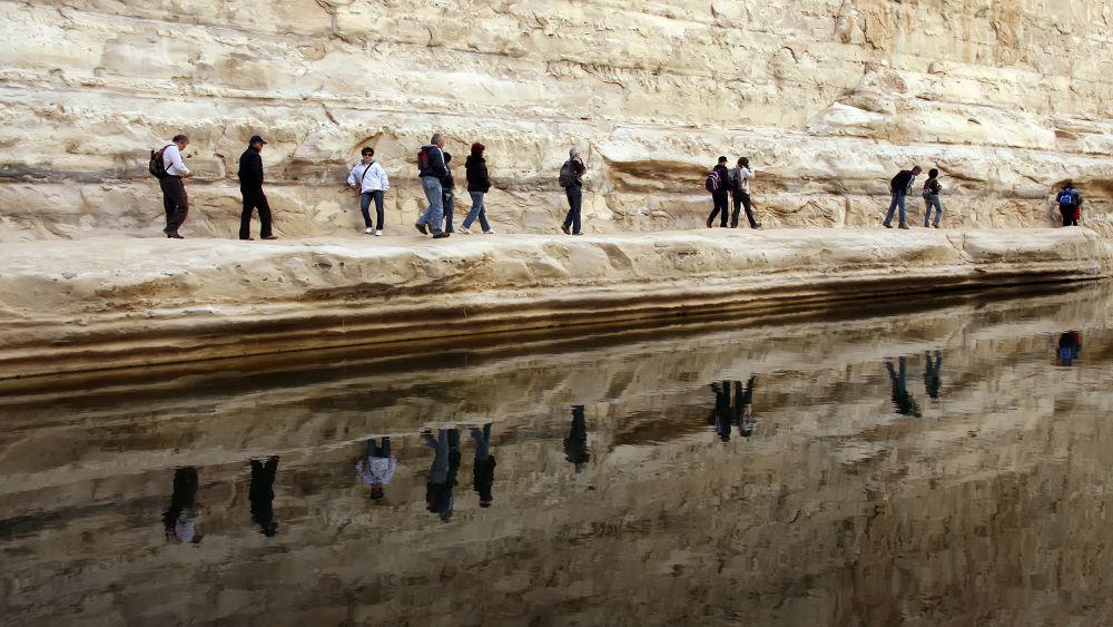Desert reflections by Shimon Aluf
