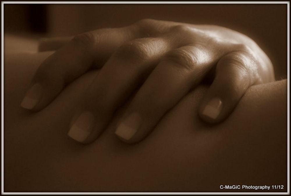 softly hugging myself by ClaraMaGiC