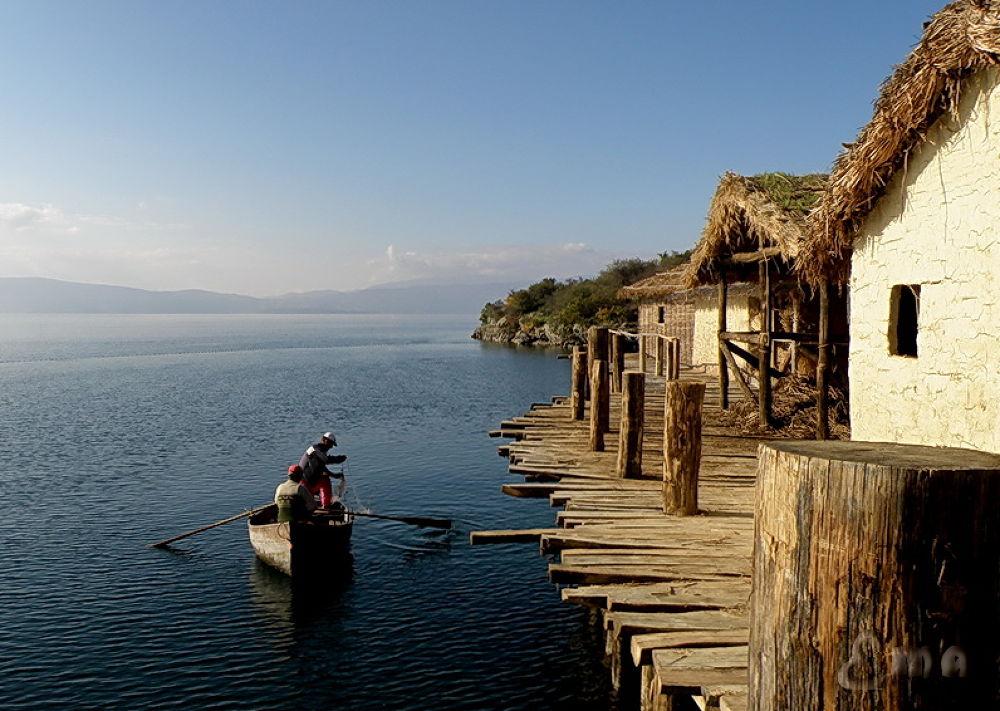 Fishing At The Bay Of Bones...Lake Ohrid by Ema1956